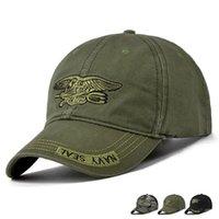ordu moda erkek kap toptan satış-Toptan Yeni Moda Beyzbol Şapkası Erkek Kadın Taktik Güneş Şapka Mektup Ayarlanabilir Kamuflaj Siyah Ordu Yeşil Snapback