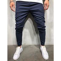 erkek spor pantolon sığdır toptan satış-Adam Kalem Pantolon Jogger eşofman altı Casual Sport Gym Koşu Pantolon Slim Fit Streetwear Bottoms
