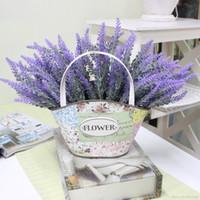 ingrosso aquatic plant-Decorazione romantica Provenza lavanda fiore seta fiori artificiali grano decorativo Simulazione di piante acquatiche