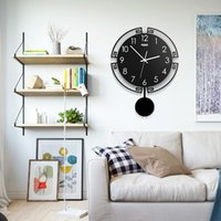 Wholesale modern swing resale online - Vintage D Digital Swing Wall Clock Modern Design Acrylic Pendulum Creative Watch Living Room Home Decoration Hanging Clocks Y200407