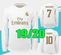 ingrosso uniforme camicia lunga-19 20 Real Madrid MOTHER KROOS Maglie maniche lunghe da calcio con maniche lunghe SERGIO RAMOS BENZEMA Mens Maglie di calcio ISCO BALE MARIANO Uniformi