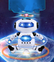 Wholesale musical electronics for sale - Group buy hot sale Dancing Robot Rotating Space Musical Walk Lighten Electronic Toy Christmas Birthday Best Gifs For Kids Toys