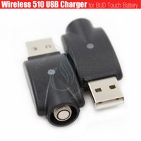 ingrosso sigarette esmart-Wireless 510 mini USB Caricabatterie adattatore BUD touch ego batteria filo IC protezione e cigs Sigarette elettroniche esmart Cartucce caricabatterie vape