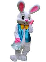 costumes de lapin de pâques personnalisés achat en gros de-Gâteaux Chaud Professionnel Lapin De Pâques Mascotte Costume Insectes Lapin Lièvre De Pâques Mascot Costume Sur Mesure
