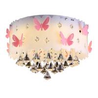 ingrosso farfalle luce del soffitto-Plafoniere moderne a farfalla a led per soggiorno Luminarias Para Sala Plafoniere Illuminazione da camera Home Fixture Art Light