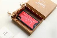 embalaje para caja del teléfono móvil al por mayor-TPU borde suave + tapa trasera dura Diseño de marca Funda para teléfono móvil para iphone XS max X 7 7plus 8 8plus con empaque original y bolsa protectora
