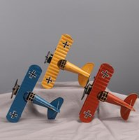 ingrosso artigianato in ferro battuto-Retro modello di aeroplano in ferro battuto europeo Creative World War II decorazione del regalo in metallo artigianato artigianato casa di moda creativa