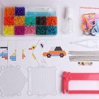 enigma do diamante 3d venda por atacado-1200 pçs / set diamante jóias beads 12 cores 3d puzzle brinquedos para crianças hama bead brinquedos educativos jigsaw puzzle speelgoed