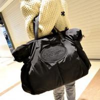 beutel baumwollfeder großhandel-Frau gepolsterte Baumwollbeutel Space Bag Down Feather Crossbody Mommy Bag große Kapazität Winter Damen Schulter Handtasche AAA1564