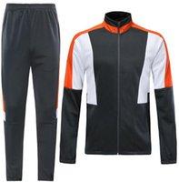 chaquetas de fútbol naranja al por mayor-# 1461 superior de Tailandia del jersey de fútbol nueva chándal mesa de luces de color naranja de arena gris de la chaqueta chaqueta blanca camiseta de fútbol kit Jersey