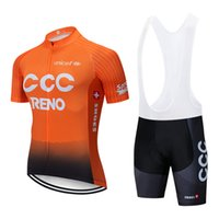 t-shirt orange de vélos achat en gros de-Nouvelle arrivée équipe cycliste porter 2019 CCC maillot de cyclisme Ropa Ciclismo Vêtements de vélo à séchage rapide manches courtes T-shirts de vélo Maillot