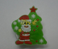 Wholesale santa claus brooch jewelry for sale - Group buy Christmas Kids jewelry toys Santa Claus shiny brooch Christmas hair flash small gift toys new decorative gifts