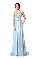 Wholesale sexy wedding dresses stock resale online - Vintage Sweetheart Evening Dresses Sky Blue Crystal Sequined Beading Pleat A Line In Stock Prom Party Gowns SD194