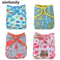 Wholesale pul diapers nappy for sale - Group buy simfamily Breathable Cloth Diaper Cover One Size Cloth Diaper Waterproof PUL Reusable Diaper Covers for Baby Fit kg