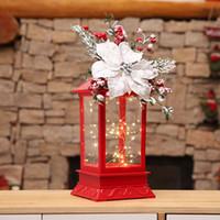 ingrosso artigianato decorativo di natale-Decorazioni di Natale Candelabro a LED Ornamenti di luce Artigianato Natale Home Decor portacandele in vetro per matrimonio capodanno 2019