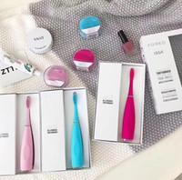 yetişkin fırça toptan satış-Silikon Elektrikli Diş Fırçası USB Elektrikli Masaj Fırçası ile Oral Hijyen yetişkinler Masaj Diş Fırçaları Pil Diş Fırçası