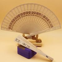 accesorios para ventiladores al por mayor-Fans de madera Fans de sándalo chino Fans de boda Publicidad Accesorios nupciales accesorios de fiesta suministros de baile accesorios FFA2694