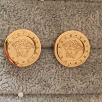 ingrosso pietre dell'orecchino-Monili di marca di alta qualità in acciaio inox di lusso cz pietra oro argento rosa placcato oro grande cuore orecchini per uomo donna all'ingrosso