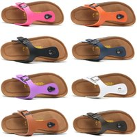 Wholesale men cork slippers resale online - 2019 Designer Slippers New flip flops Summer Beach Cork Slipper Flip Flops Sandals Women Men Casual Slides Shoes Flat slippers Size