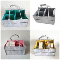 Wholesale eco friendly diapers resale online - Portable Fold Diaper Bag Felt Multi Function Travel Organizer Outdoor Storage Bags Fit Baby Supplies Colors jc E1