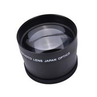 pentax lensler toptan satış-58mm2.0X Profesyonel Telefoto Lens + Canon Nikon Sony Pentax için Temizleme Bezi