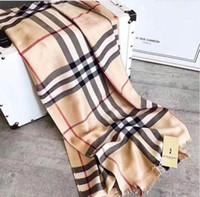 lenços de seda de marca venda por atacado-Top designer de lenço de seda marca cachecol senhoras macio super longo cachecol de luxo xale moda primavera impressa lenços