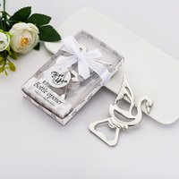 Wholesale bottle opener baby shower favors for sale - Group buy New Metal Swan Beer Bottle Opener Gift Box Package Creative Party Gifts Baby Shower Favors WB771