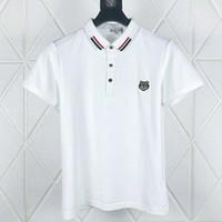 kaliteli mens iş gömlek toptan satış-Işlemeli kaplan Polo gömlek erkek tasarımcı t-shirt marka giyim kısa kollu yaz calssic lüks Yüksek Kaliteli Iş Rahat üstleri tee
