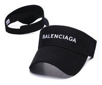 bayanlar plaj vizörleri toptan satış-Yüksek qualit unisex Visor Güneş Şapka Kadın Güneş Kremi Yaz Spor Tenis Kap Moda Lady Seyahat Plaj Boş Üst Şapka Erkekler Tasarımcı lüks Sunhat
