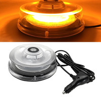 führte bernstein strobe warnung licht dach großhandel-Auto Amber Light LED Stroboskop Dachwarnblitzrundum Notfall-Auto-Sicherheits-Signal