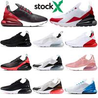 fotos de esportes venda por atacado-nike air max airmax 270 270s Bred Stock x homens mulheres tênis triplo preto branco cacto rosa foto azul universidade vermelho formadores mens tênis esportivos ao ar livre