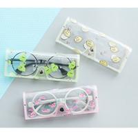 gafas de animales al por mayor-Kawaii Animales de Dibujos Animados Caja de Gafas de PVC Caja de Gafas Transparentes de la Niña Linda Cajas de gafas protable Accesorios de Gafas # 41512
