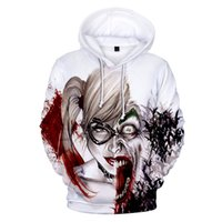 Wholesale joker clothes resale online - HAHA Joker D Hoodies Sweatshirts Men Brand Tracksuits Clothes Printed Pullover Hooded Coat Funny Hoody Sweatshirt Plus Size