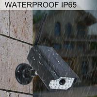 Wholesale sd video surveillance camera for sale - Group buy Surveillance Fence Outdoor Motion Sensor Energy Saving Fake Camera Waterproof Wall Lamp Garden Security Adjustable Solar Powered