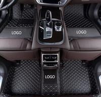 alfombra del piso del coche antideslizante al por mayor-Estera antirresbaladiza para automóviles Mercedes-Benz GLK 2008-2017 rodeada por una alfombrilla para el piso de cuero impermeable y resistente al desgaste con logotipo