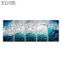 ingrosso dipingere le onde marine-Tooarts Waves Immagine Moderna Spray Painting Seascape Wall Art Poster Paesaggio Original Home Decor Accessori per la decorazione della casa