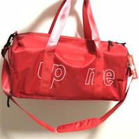 çoklu el çantaları toptan satış-Moda çanta büyük kapasiteli silindirik seyahat çantası çok fonksiyonlu ayakkabı çanta spor çanta Messenger çanta omuz çantaları ücretsiz kargo