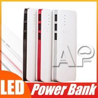 Wholesale light portable power bank online – Top selling High Quality Portable mAh Power Bank USB LED Light Backup Battery Charger For iPhone X Samsung Huawei