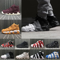 Wholesale basketball shoes s for sale - Group buy Newest More Uptempo SUPTEMPO Men Basketball Shoes PRM Premium Flax Wheat Gold s Metallic Tri colour M Pippen air Sneakers
