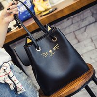 Wholesale kitty handbags resale online - Pretty2019 Handbag Kitty Bag Woman Trend Leisure Time Lovely Single Shoulder Will Capacity Package