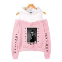 ropa de calle harajuku al por mayor-Ropa de mujer 2019 sudadera con capucha Nipsey Hussle Harajuku Kawaii Pink Off The Shoulder Hoodie Moda de la calle coreana personalizada