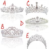 Wholesale gifts for girls for sale - Princess Classic Bride Headpieces Tiaras Cute Girls Tiaras Crowns All with Crystal for Wedding and Gift New Style