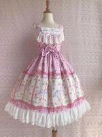 One Piece Style Pink Quality Theme Costume Fashionable Apparel Designer Women's Dress Sweet Lolita Dress Plus Size