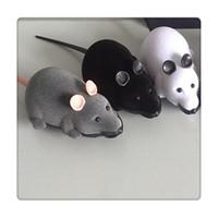 brinquedos novidade ratos venda por atacado-Controle remoto mouse pet brinquedos sem fio para cat dog toys presente da novidade engraçado controle remoto pet toys rc rato presentes