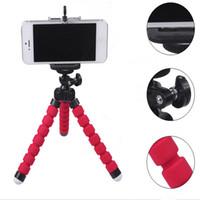 selbstbedienung für handy großhandel-Mini handyhalter flexible krake stativ halterung selfie erweiterung stehen montage einbeinstativ styling für handy kamera universal