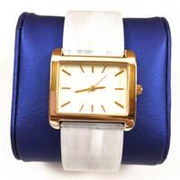 relógios de moda de plástico venda por atacado-2019 Novo vestido pulseira de plástico mulheres watcj relógios de pulso de luxo senhora relógio marca de moda de Festa de aço Inoxidável de alta qualidade transporte da gota