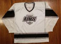 639f25b2ed4 Wholesale Custom Los Angeles Kings Vintage CCM Cheap Hockey Jersey White Mens  Retro Jerseys