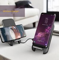 aufladung telefonständer großhandel-Wholesale 10W QI drahtlose Aufladeeinheits-Telefon-Halter-Standplatz-schnelle drahtlose aufladende Auflage-Telefon-Aufladeeinheiten für Iphone XS X Huawer Kamerad 20 P30 Xiaomi 9