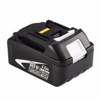 портативные электроинструменты оптовых-Новый портативный Замена 18V аккумуляторная батарея 6AH 6000mAh литий-ионная аккумуляторная батарея питания Инструмент для BL1860