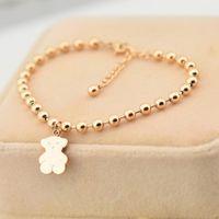 joyas de buda para mujeres al por mayor-Estilo de moda de acero inoxidable chapado en oro rosa pulseras del encanto de Buda pulseras del grano para las mujeres joyería venta al por mayor M2509